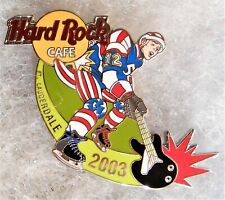 HARD ROCK CAFE FORT LAUDERDALE HOCKEY PLAYER WITH BLACK GUITAR PIN # 16283