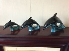 More details for set of three vintage poole dolphins