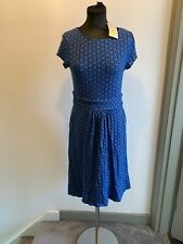 Boden Heart Star Multi Print Jersey Dress Size 10R BNWT