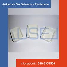 PZ 400 VASCHETTE PER ALIMENTI IN PLASTICA BIANCA CONTENITORE BOCCONCINI PATATINE