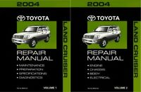 2004 Toyota Land Cruiser Shop Service Repair Manual Book Engine Drivetrain OEM