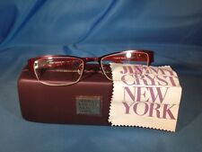 a5e0f3e40fa New Women s Jimmy Crystal Eyeglass Frame Legacy Burgundy Semi Rimless  52-18-135
