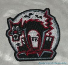 Embroidered Retro Halloween Black Alley Cat Scaredy Cat Horror Patch Iron On USA