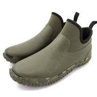 Unisex Rain Boots Waterproof Ankle Shoes Slip On Anti-skid Outdoor Rubber Flat