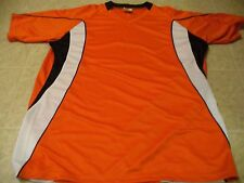 High Five Size M orange athletic short sleeve jersey NEW