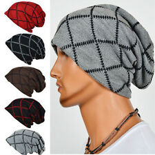 Unisex Women Men Knit Winter Warm Ski Crochet Slouch Hat Cap Oversized Beanie +w