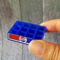 1x Pepsi Soda Drink Crate Tray Dollhouse Miniature Vintage Wholesale Mini Set