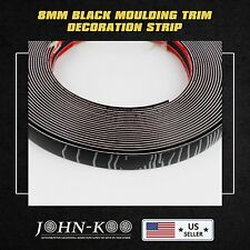 10Ft Car Black Styling Decoration Moulding Trim Strip Tape Adhesive 8MM Durable