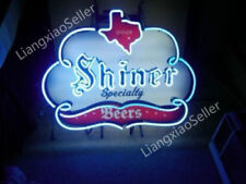 """24"""" New Shiner Beer Specialty Texas REAL GLASS NEON SIGN BEER BAR PUB LIGHT"""