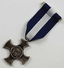 Superb Full Size Replica WW2 Distinguished Service Medal with Ribbon. ER/Cross