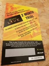 Unused Expired Xbox Live 2 Month Trial EA Scratch Card - Microsoft Xbox Original