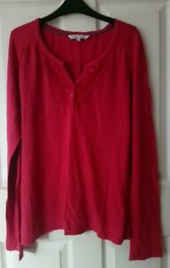 Fat Face Tunic Top Size 12 Red-Orange (label says pink rose) 100% Cotton