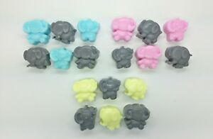 40 x Mini Elephant Soaps - Scented - Baby Shower Game Prize Christening Favours