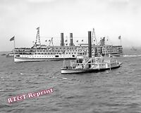 Photograph of the Steamships C.W.Morris & Norwich  Year 1900 8x10