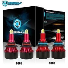 4-Sides 9005 9006 LED Headlight Kit 4000W Fog Light Bulbs High Low Beam 6000K