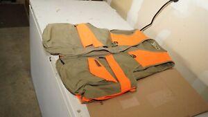 FIELD & STREAM Orange Tan Waterproof Zippered Hunting Fishing Utility Vest x-l