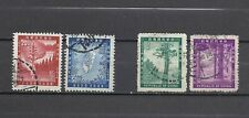 CHINA TAIWAN 1954-5 Sc#1096-7& 1109-10, Forest Conservation, Used.