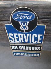 FORD V8 SERVICE OIL CHANGES LUBRICATION GARAGE 3 PART Hanging Metal Cool