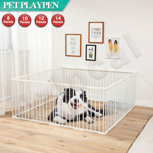 8/10/12/14 Portable Panel Pet Dog Playpen Puppy Exercise Cage Play Pen Fence
