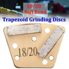 3Pcs/Set Trapezoid HTC Grinding Discs for Bolt On Grinders 18/20 Soft Bond