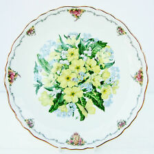 Vintage Royal Albert Collector Plate Queen Mother's Favourite Flowers Primroses
