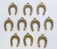 30Pcs Tibetan Silver,Antiqued Bronze Horseshoe Charm Pendants 11x17mm M1601