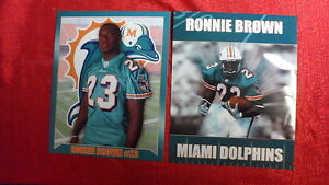 Miami Dolphins 2 Ronnie Brown Glossy 8x10 Photos NFL