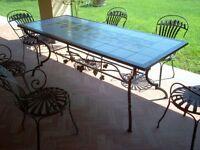 Tavolo Pranzo Tavolino Salotto FERRO BATTUTO  Realizzazioni Personalizzate . 654