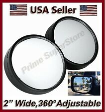 2 INCH NEW SIDE AUXILIARY BLIND SPOT VIEW MIRROR X TWO SMALL SWIVEL REARVIEW