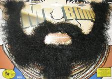 A Team Mr T Style Bling Moustache & Beard Set Fancy Dress Accessory P6267