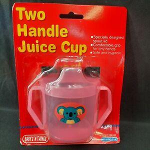 Vtg 1999 Two Handle 6oz Juice Cup Baby Toddler Baby's N Things Sippy Koala Bear