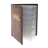 250 Pieces Small + Big Grids 10 Pages Coins Storage Album Holder Book Brown