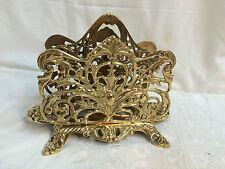 Porte courriers / lettres ajouré en bronze doré