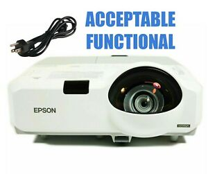 Epson PowerLite 435W 3LCD Projector - Acceptable Functional w/Power Cable