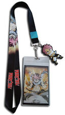 Fairy Tail Fiery Dragon Natsu Lanyard Badge ID Holder & PVC Natsu Charm New