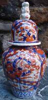 -Porcelaine Antique Imari Jar Pot Chinois with Foo Dog Japon Asie