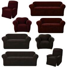 Housses de canapé, fauteuil, et salon rouge en polyester pour la maison