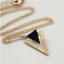 Black Gold Triangle Adjustable Chain Necklace