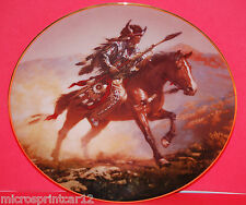 """""""Spirit of the Plains"""" 1992 Hamilton Collection """"Mystic Warrior Series"""" Plate"""