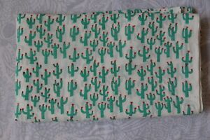 New Design Floral Print 1 Yard Cotton Indian Hand-Block Fabric Print_736