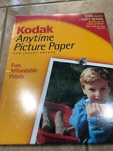 KODAK Anytime Picture Paper 100 Sheet Pack Soft Gloss 8.5 x 11 44lb NEW/SEALED