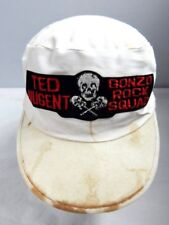 Vintage 1980s Ted Nugent Gonzo Rock Squad Skeleton Guitars Sport Hat Painter Cap