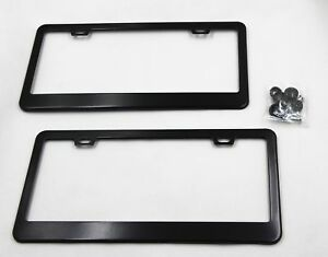 2 PCS Stainless Steel License Plate Frame Cover+Screw For Toyota Camry & Corolla