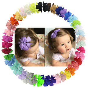 1pcs Kids Baby Girls Children Toddler Flowers Hair Clip Bow Accessories Hairpin