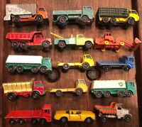 15 Vintage Lesney Matchbox Vehicle Trucks Car Tractor