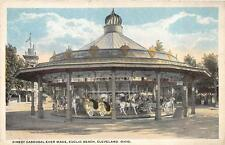MERRY GO ROUND FINEST CAROUSAL EVER MADE EUCLID BEACH CLEVELAND OHIO POSTCARD