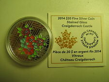 2014 Proof $20 Stained Glass #1-Craigdarroch Castle Canada COIN&COA ONLY HALF PR