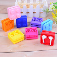 Earphone cable winder silicone tidy headphone line cord holder wire organizer AW