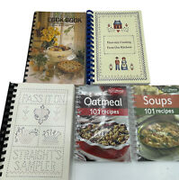 Vintage Lot of 5 Spiral Bound Cookbooks Ohio Straight Inc. Soups Oatmeal Church