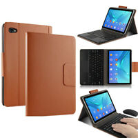 """For Huawei C5 10.1"""" MediaPad Bluetooth Keyboard Case Flip Leather Cover Case"""